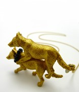 wolf power  necklace
